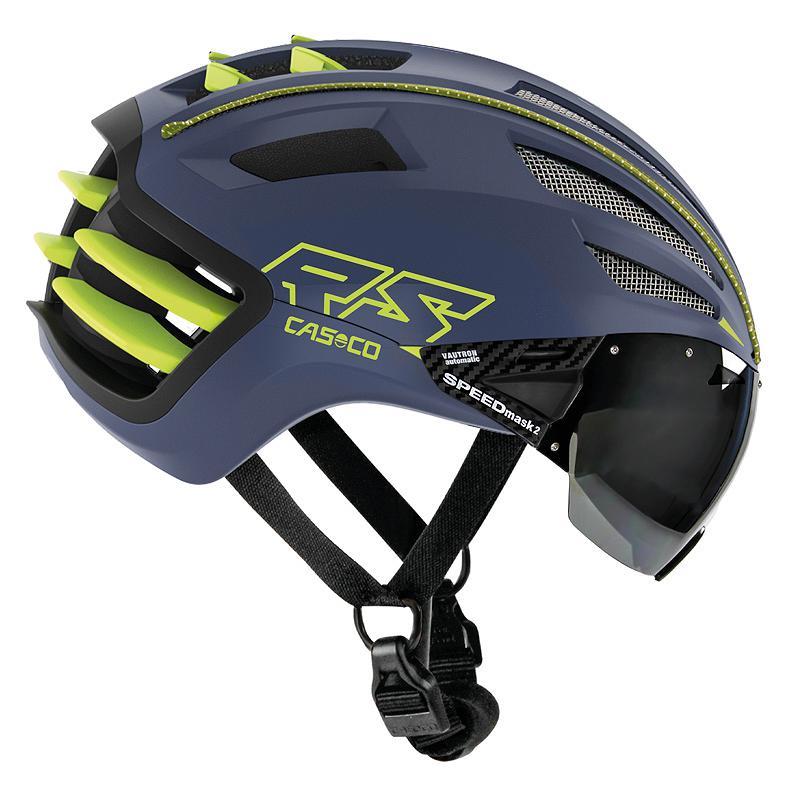 Casco SPEEDairo 2 RS - Helmet with visor - blue-neon yellow
