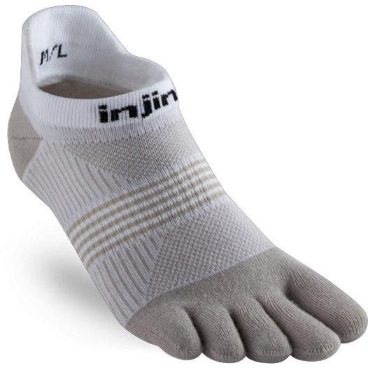 Injinji Women's Run Lightweight No-Show Socken - white/sand