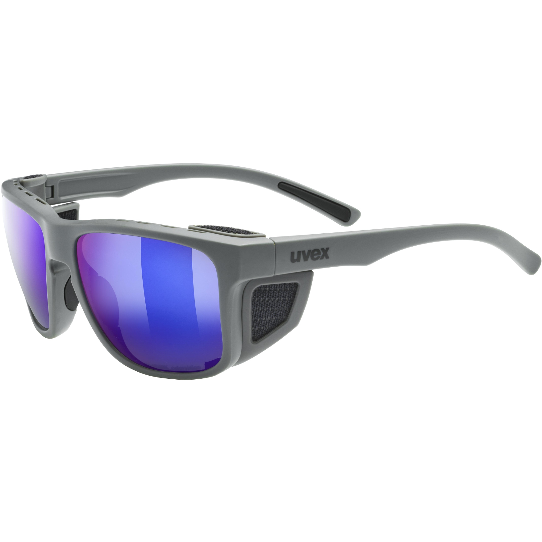 Uvex sportstyle 312 CV Glasses - rhino mat/colorvision mirror green