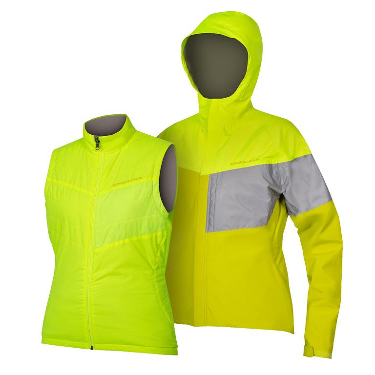 Image of Endura Women's Urban Luminite 3 in 1 Jacket II - hi-viz yellow