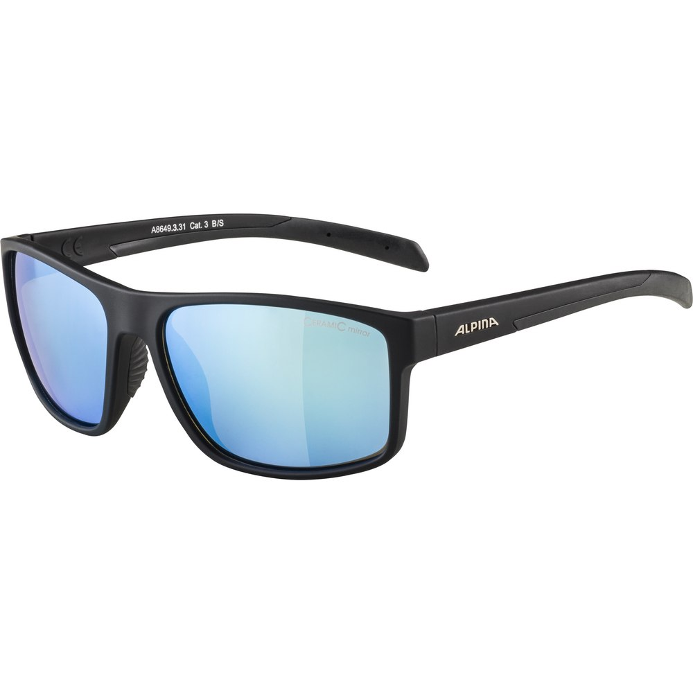 Alpina Nacan I Black Matt/CeramiC Blue Mirror Glasses