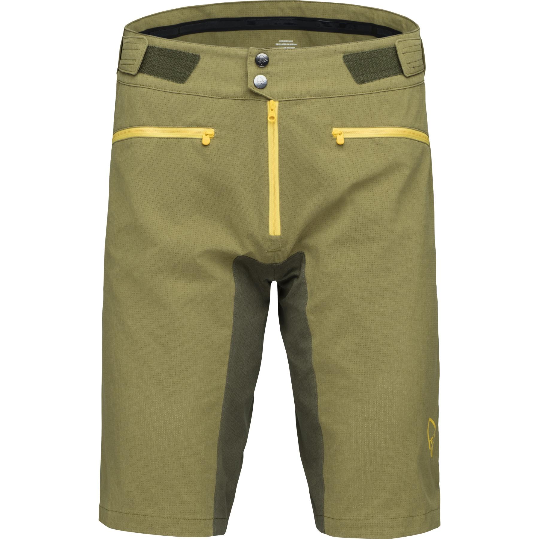 Norrona fjora flex1 lightweight Shorts Men - Olive Night/Lemon Chrome