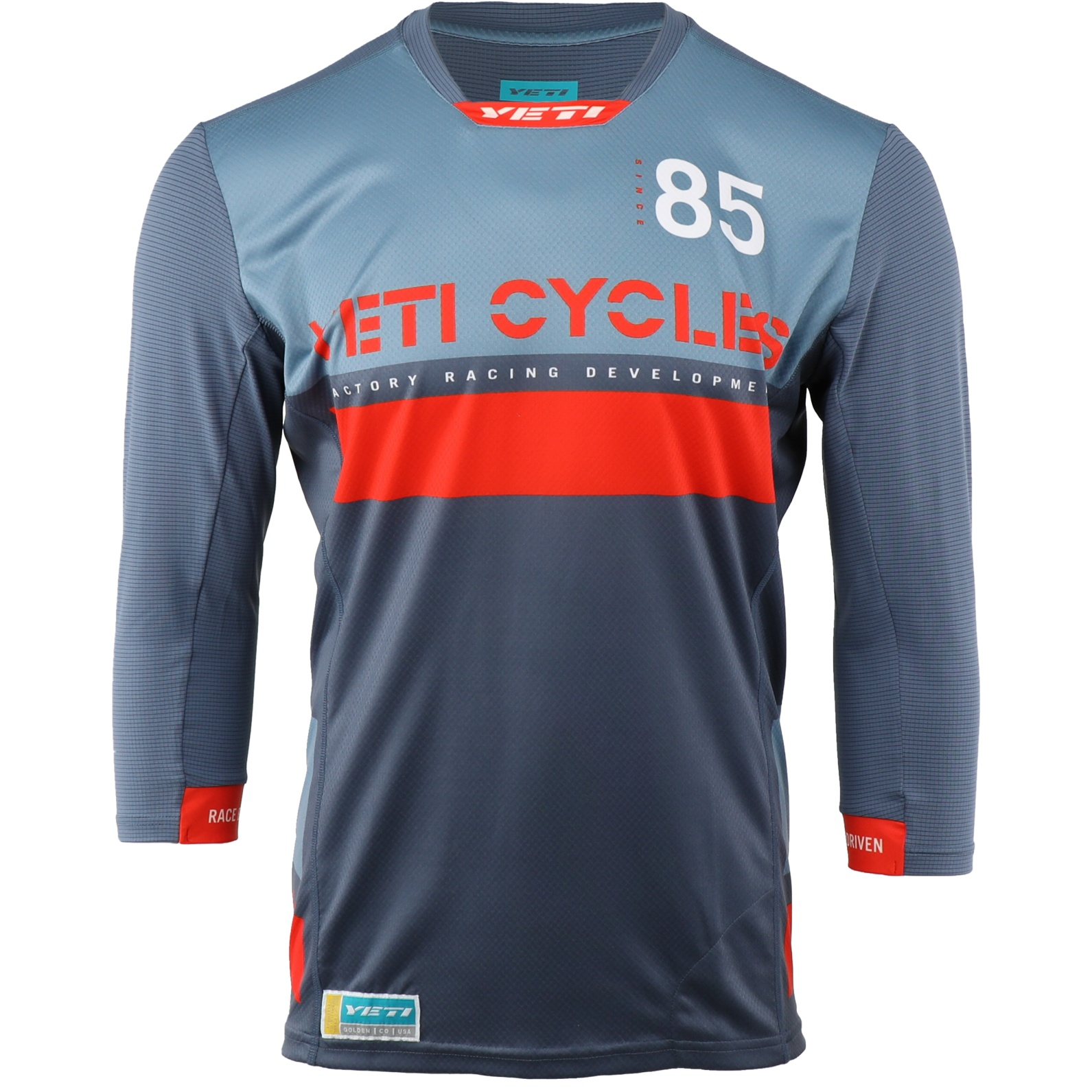 Picture of Yeti Cycles Enduro 3/4 Sleeve Jersey - Slate