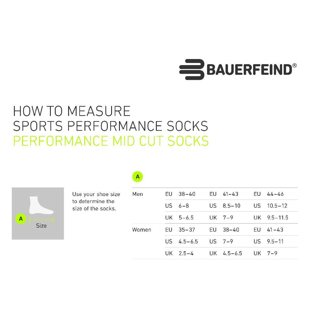 Image of Bauerfeind Run Performance Mid Cut Socks Women - white