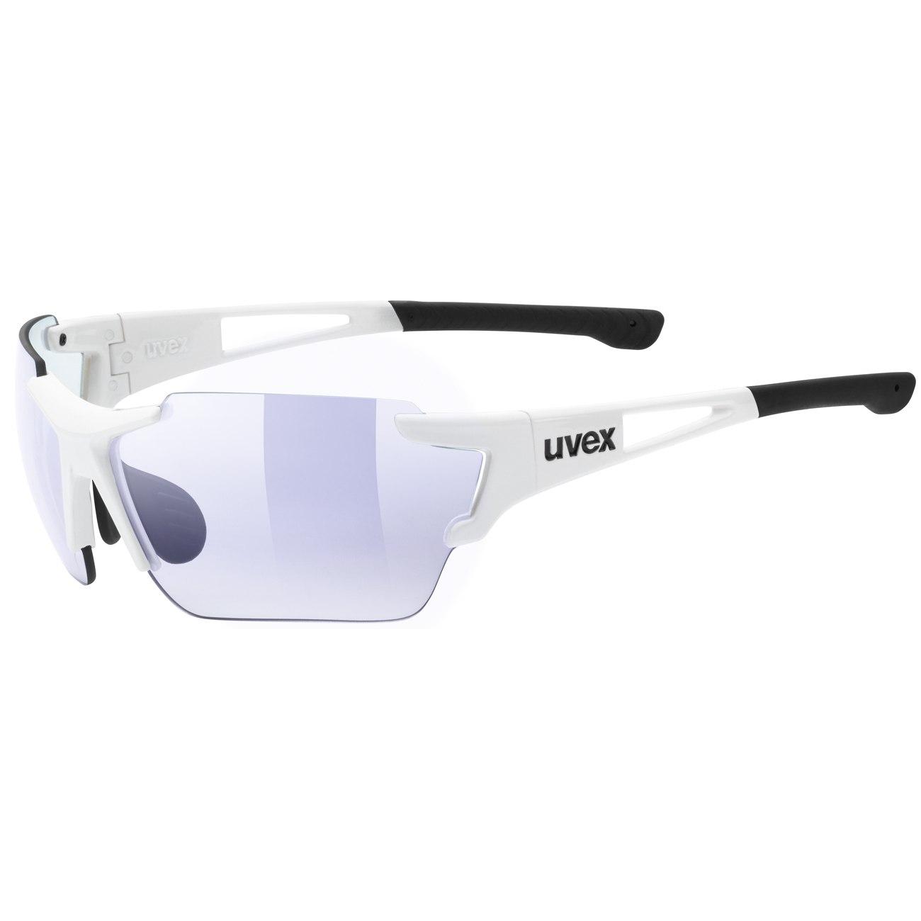 Uvex sportstyle 803 race vm - white/variomatic litemirror blue Brille