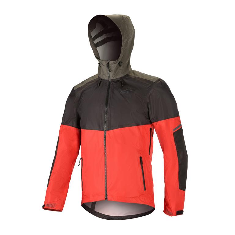 Image of Alpinestars Tahoe Waterproof Jacket - black/red/dark shadow