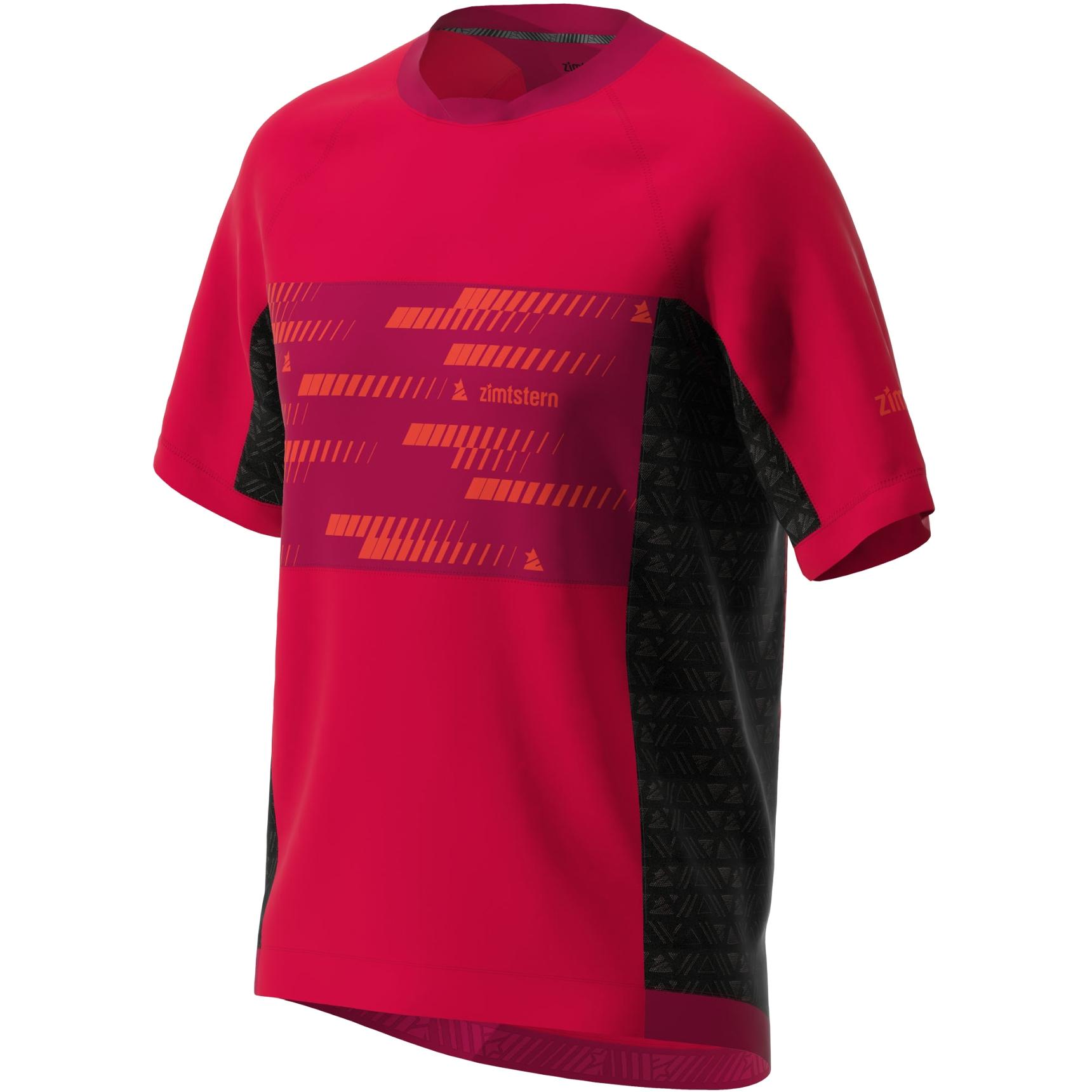 Bild von Zimtstern TechZonez Kurzarm-Shirt - cyber red/jester red