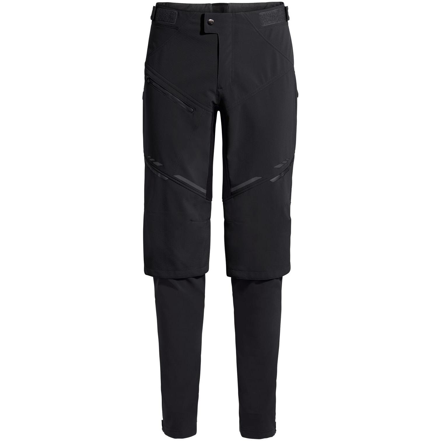 Vaude Virt Pantalones de Softshell II - negro/negro