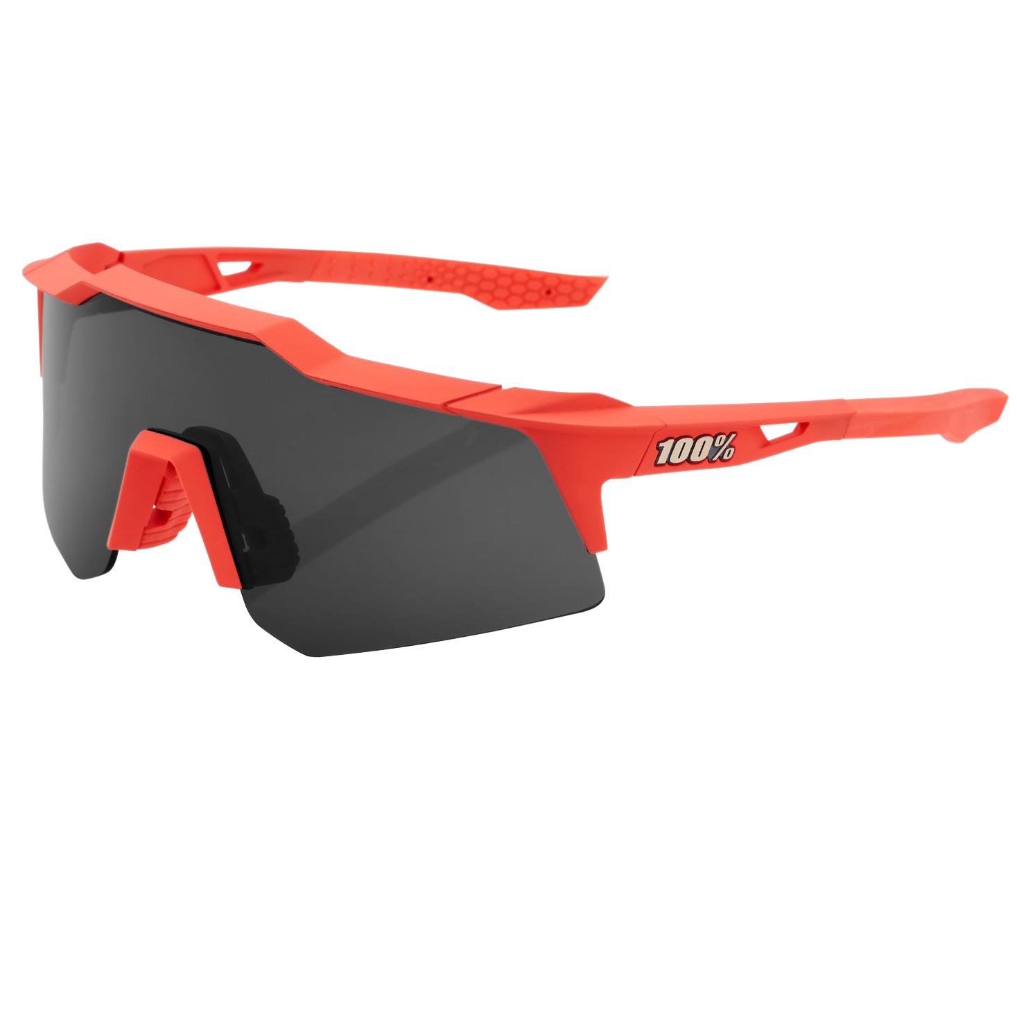 100% Speedcraft - XS - Gafas - Soft Tact Coral/Smoke + Clear