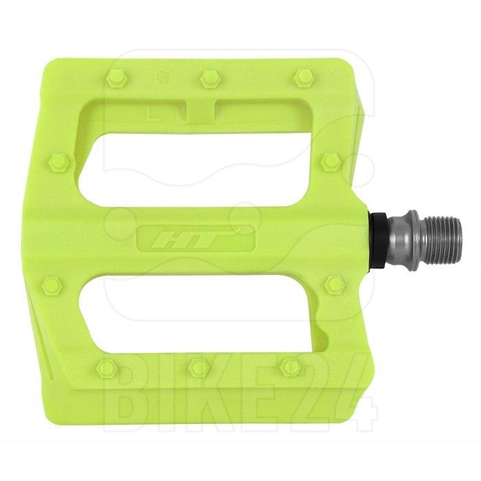 Produktbild von HT PA12 NANO P Flat Pedal Aluminium - gelb grün