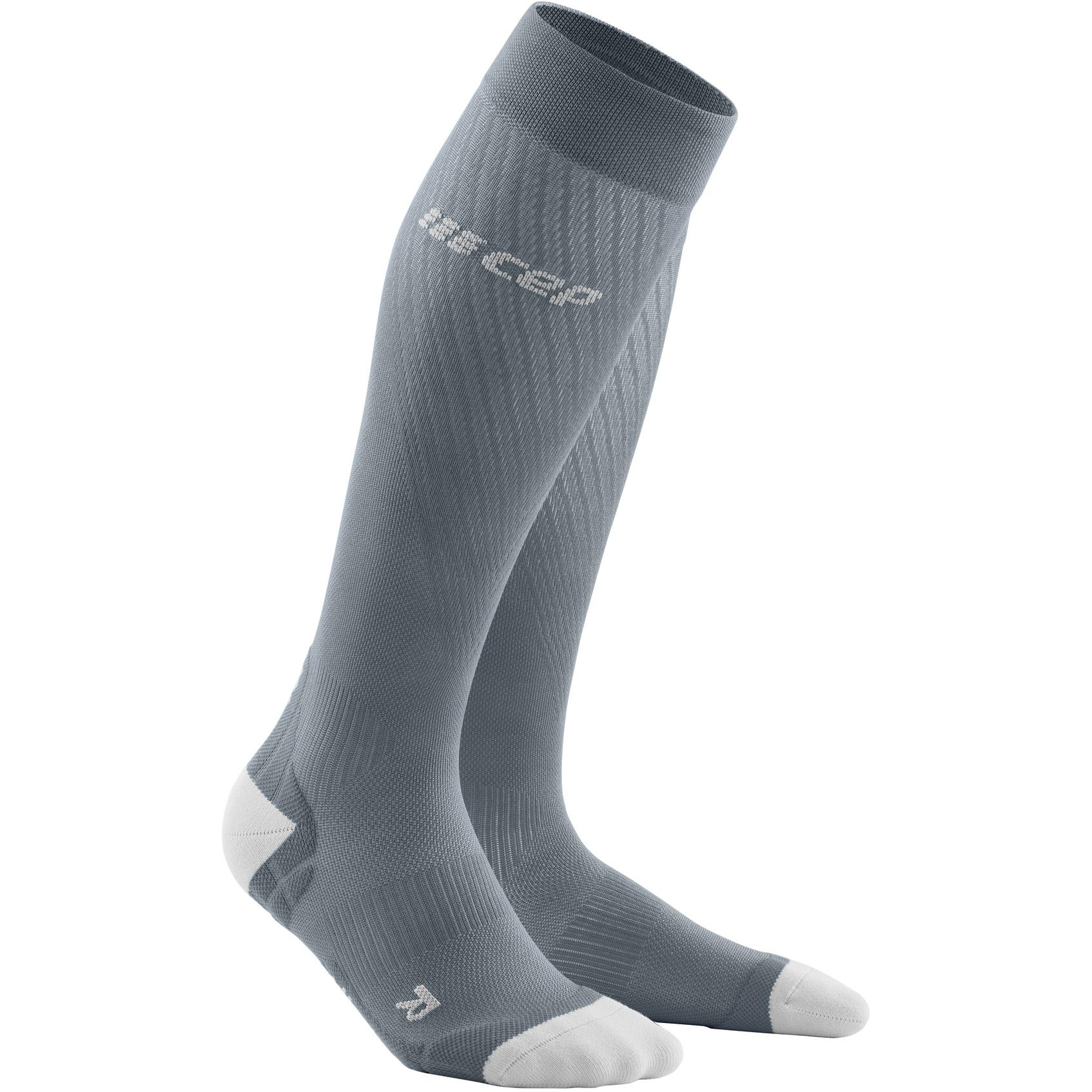 CEP Run Ultralight Compression Socks Women - grey/light grey HW21