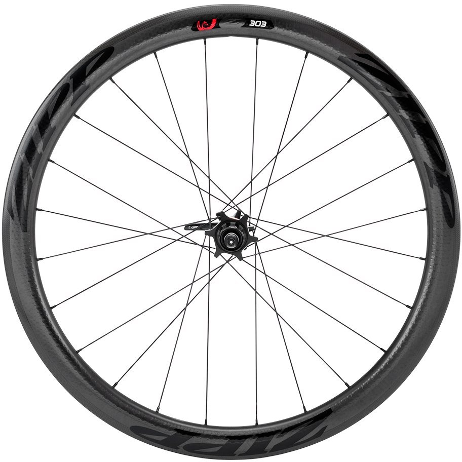 Image of ZIPP 303 Firecrest Carbon Clincher Tubeless 6-Hole Disc Rear Wheel - 12x135/142mm / QR - Matte Black