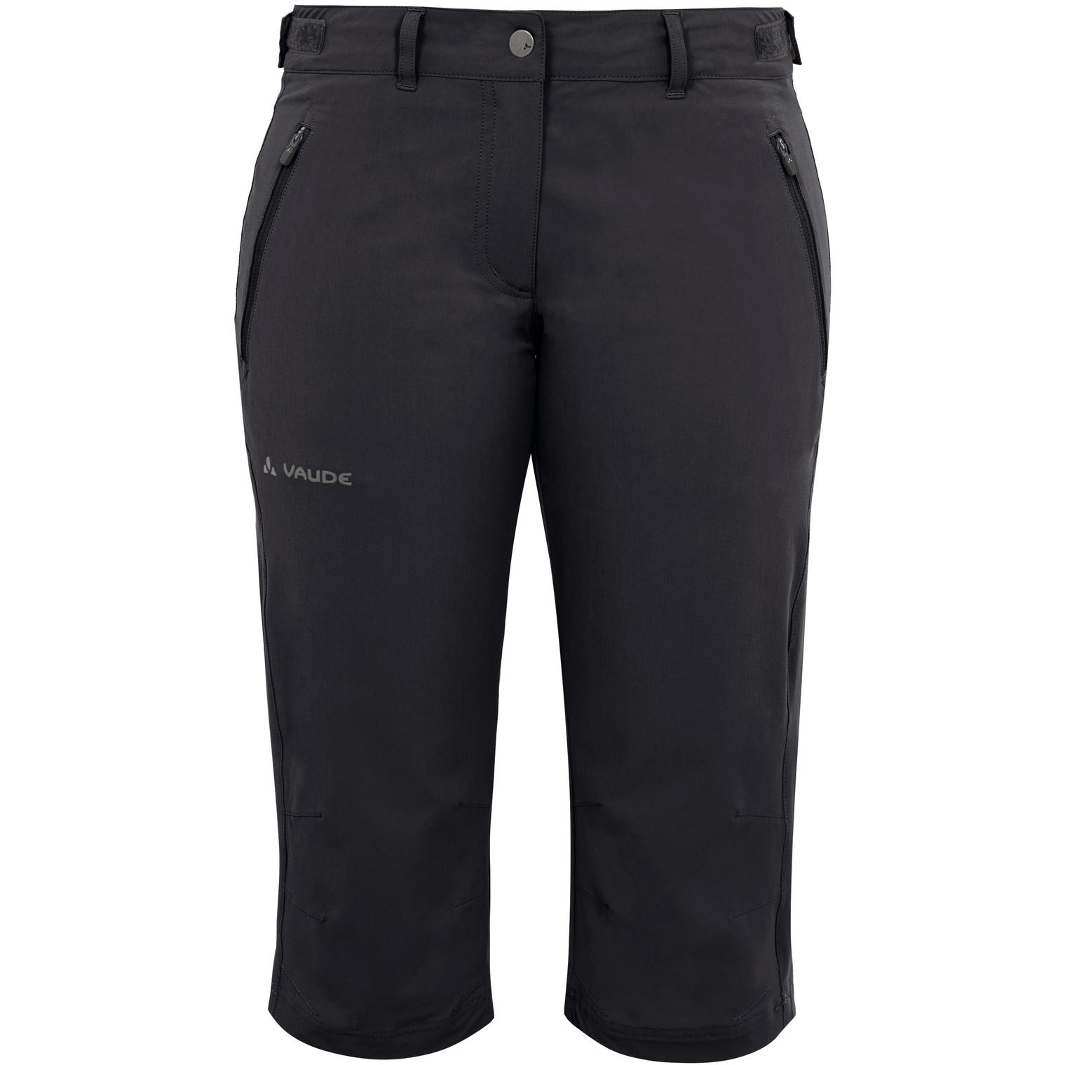 Vaude Farley Stretch Capri II Damenhose - schwarz