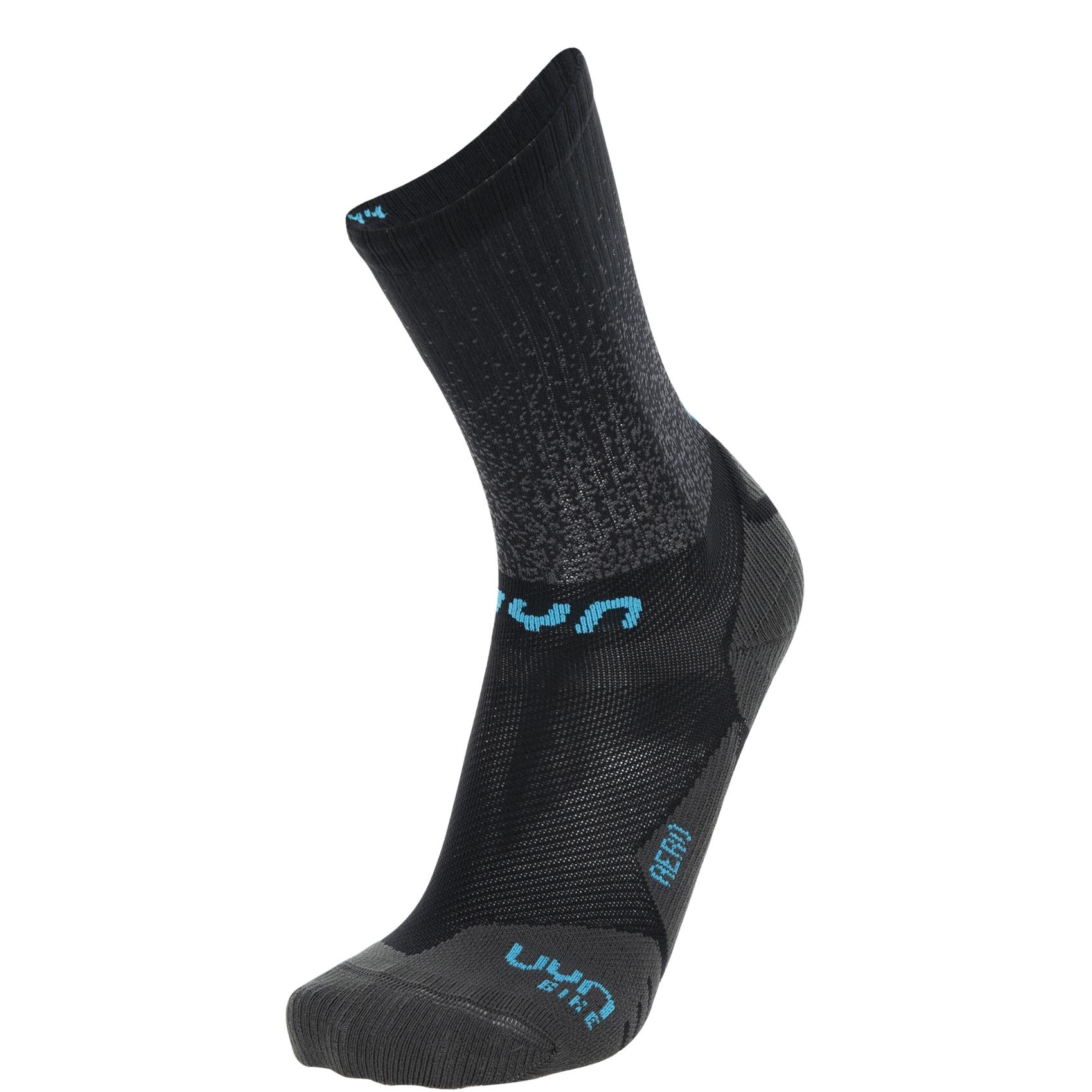 UYN Cycling Aero Socken - Schwarz/Türkis