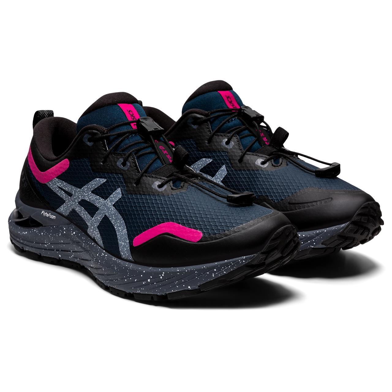 Image of asics GEL-Cumulus 23 AWL Running Shoe Women - french blue/pink rave