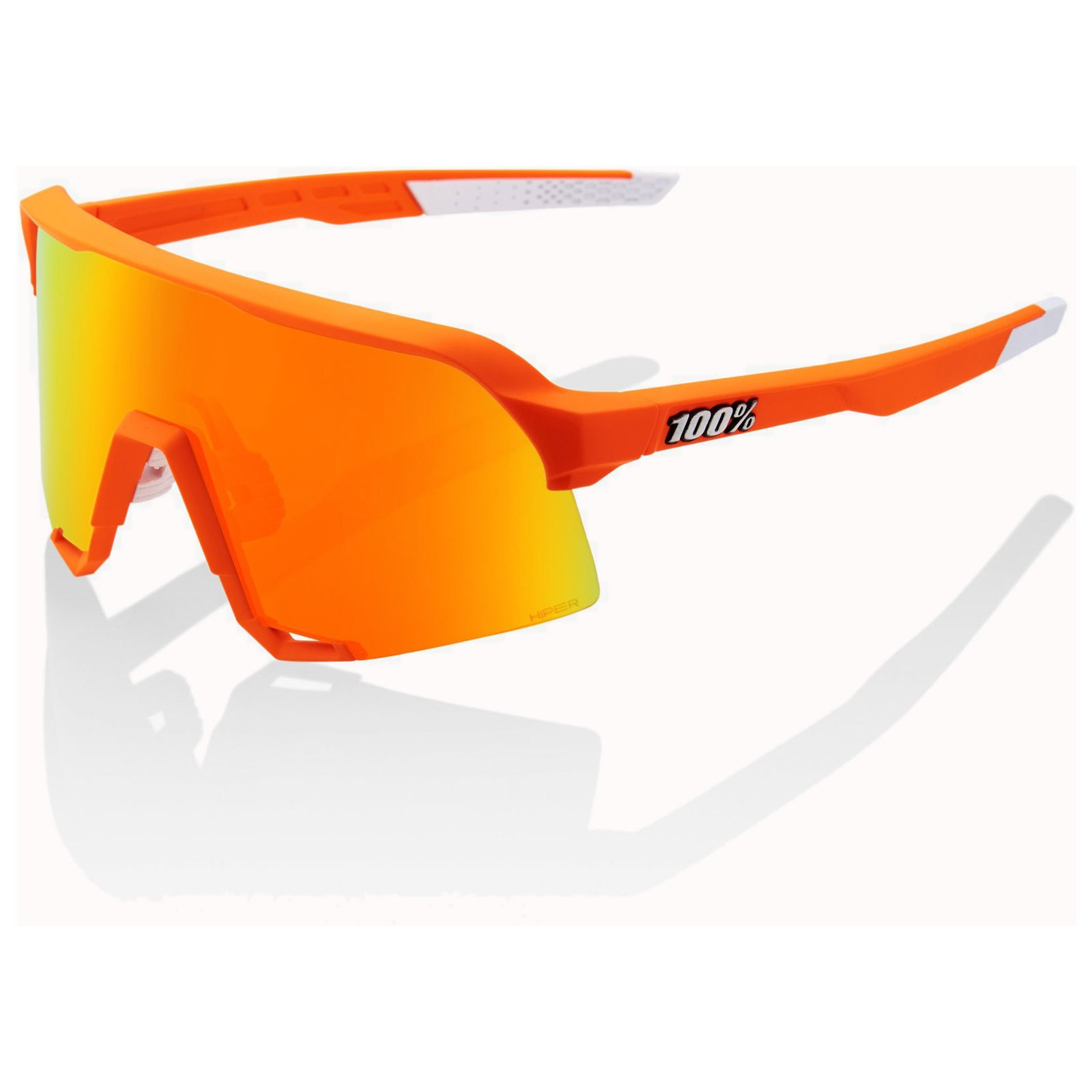 100% S3 HiPER Multilayer Mirror Lens Glasses - Limited Editon Neon Orange