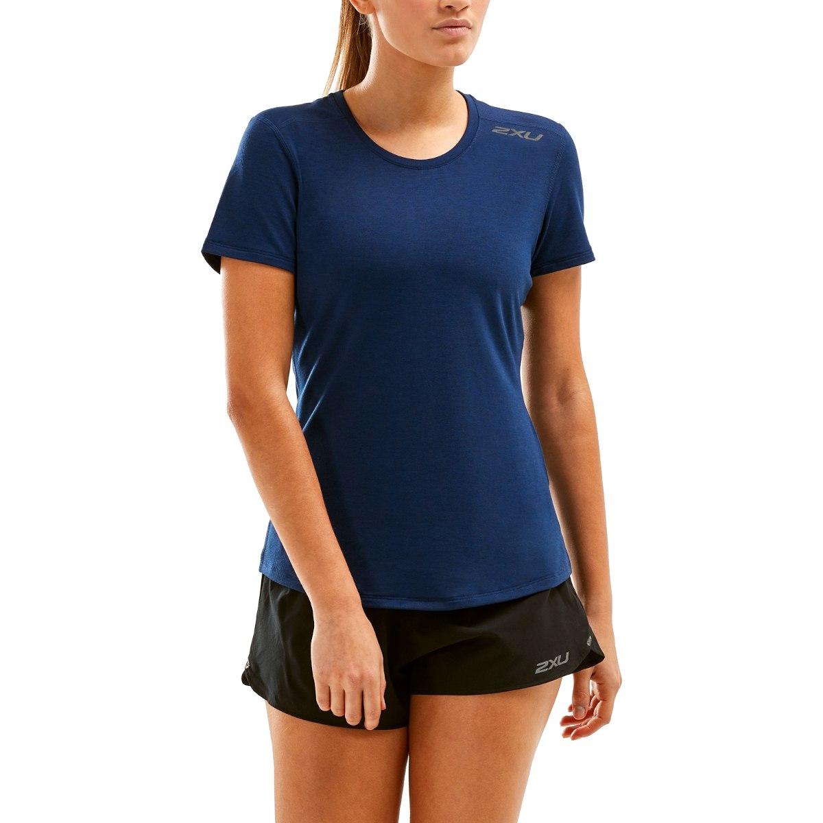 Imagen de 2XU Women's Heat Short Sleeve Tee - navy marle/navy marle