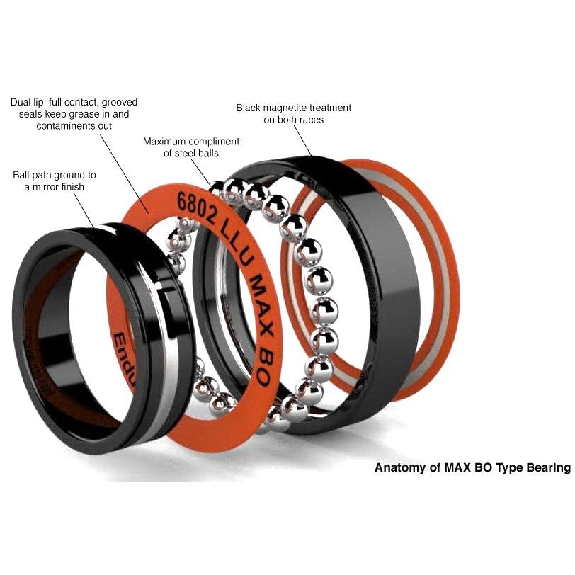Image of Enduro Bearings 6803 LLU - ABEC 3 MAX Black Oxide - Ball Bearing - 17x26x5mm