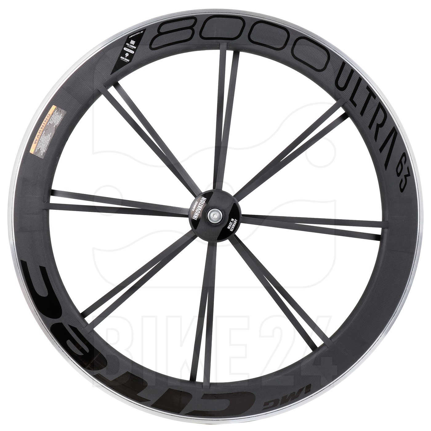 CITEC 8000 SL / 63 Ultra 28 Inch Front Wheel - Clincher - 9x100mm QR - black