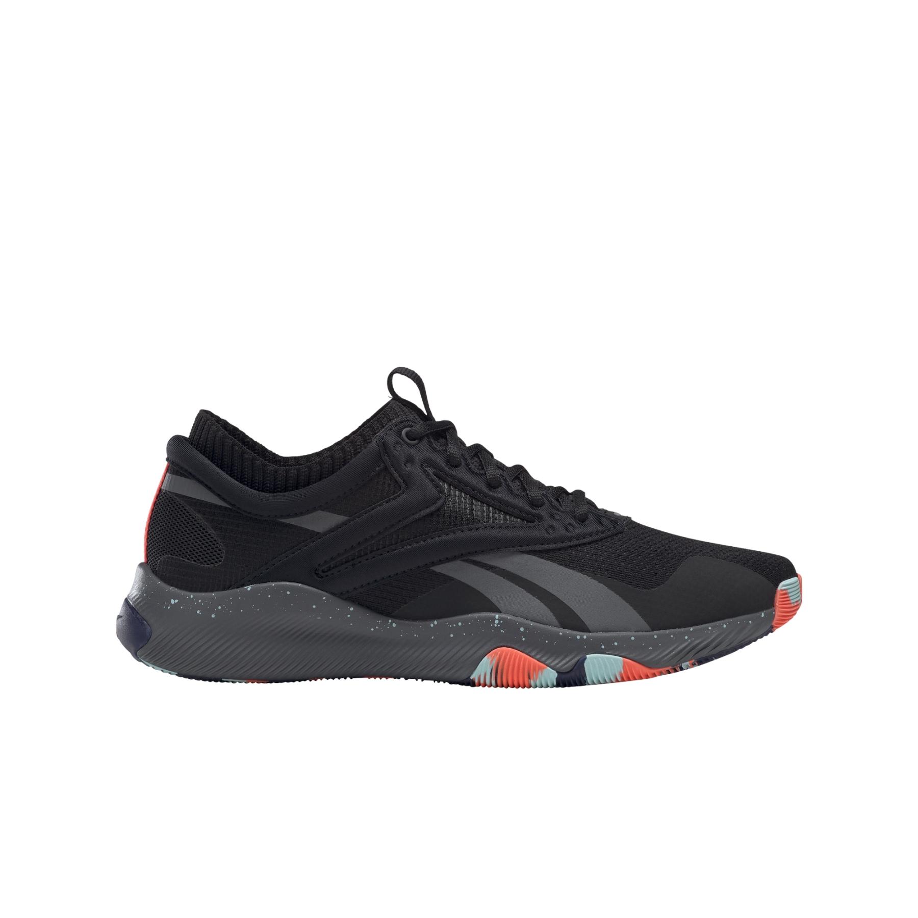 Reebok HIIT Zapatillas de entrenamiento para hombre - core black/true grey 7/orange flare G55468