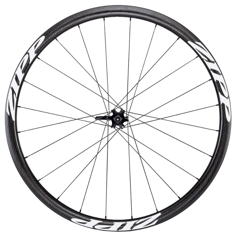 Image of ZIPP 202 Firecrest Tubular 6-Hole Disc Carbon Front Wheel - 12/15x100mm / QR - Matte White