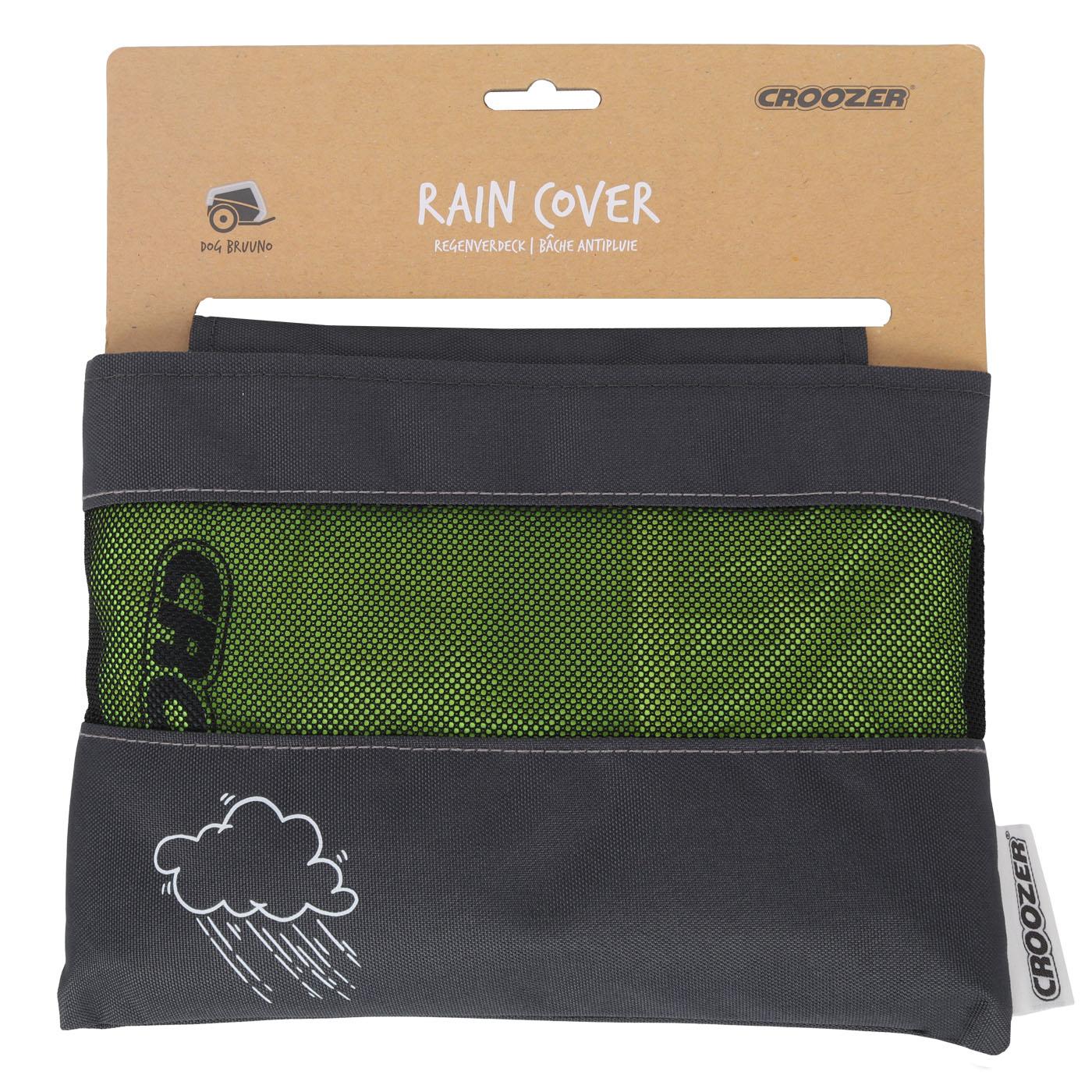Picture of Croozer Rain Cover for Bike Trailer Dog Bruuno / Dog XXL - lightning yellow
