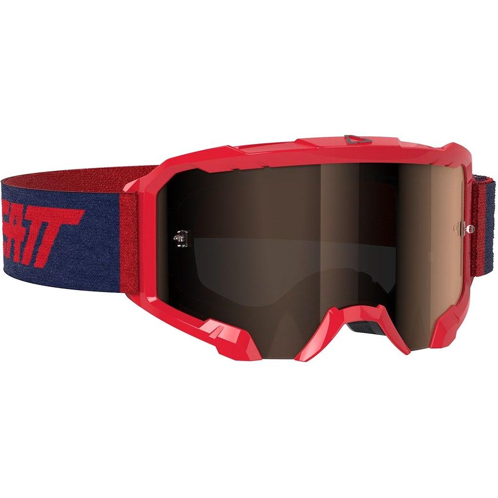 Leatt Velocity Iriz 4.5 Goggle Brille - red / platinum - anti fog lens