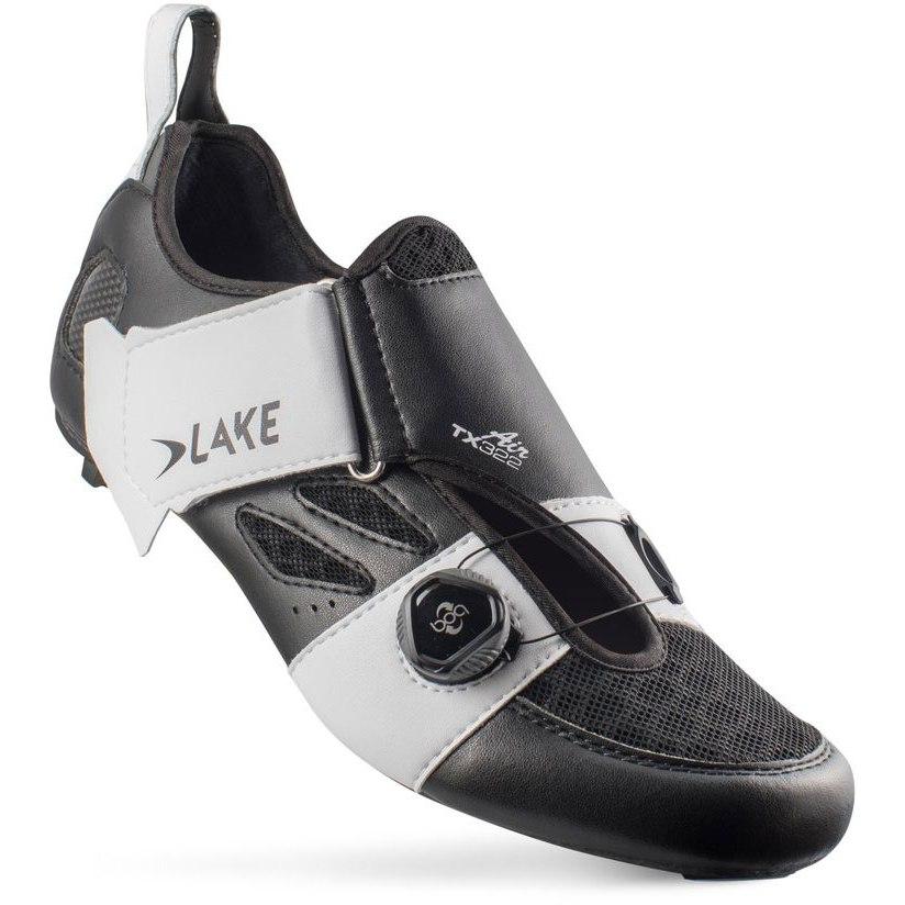 Image of Lake TX322 Air Triathlon Shoe - black / white