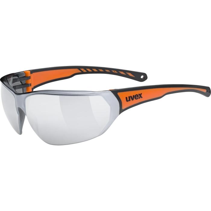 Uvex sportstyle 204 Glasses - black orange - mirror silver