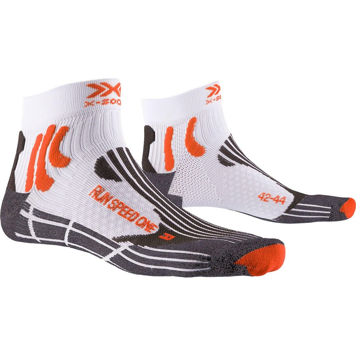 X-Socks Run Speed One Laufsocken - white/x-orange/grey