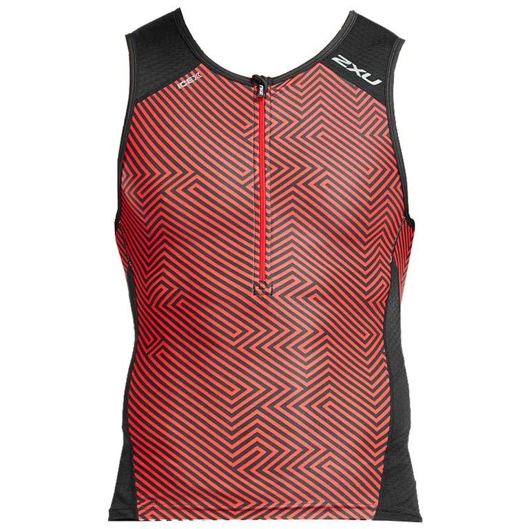 2XU Perform Tri Singlet MT4851a - black/kona team red