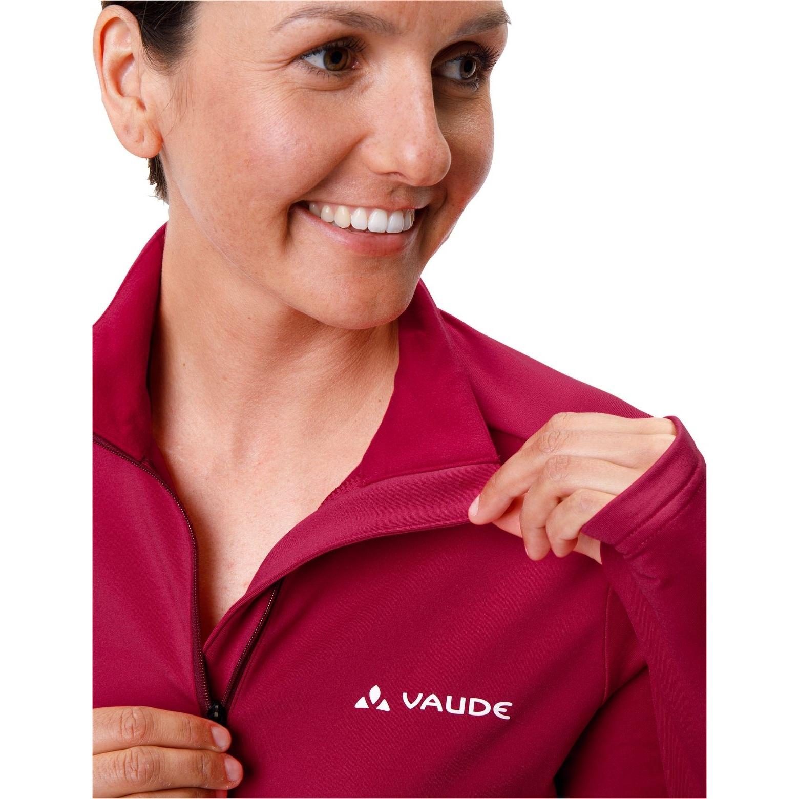 Bild von Vaude Livigno Halfzip II Damen Shirt - crimson red