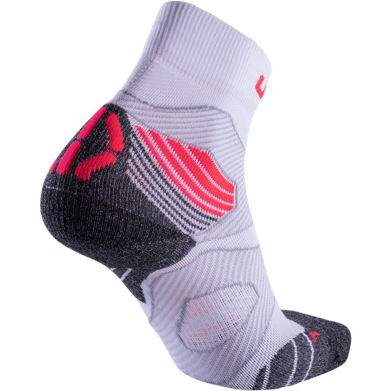 Image of UYN Run Trail Challenge Lady Socks - White/Coral Fluo