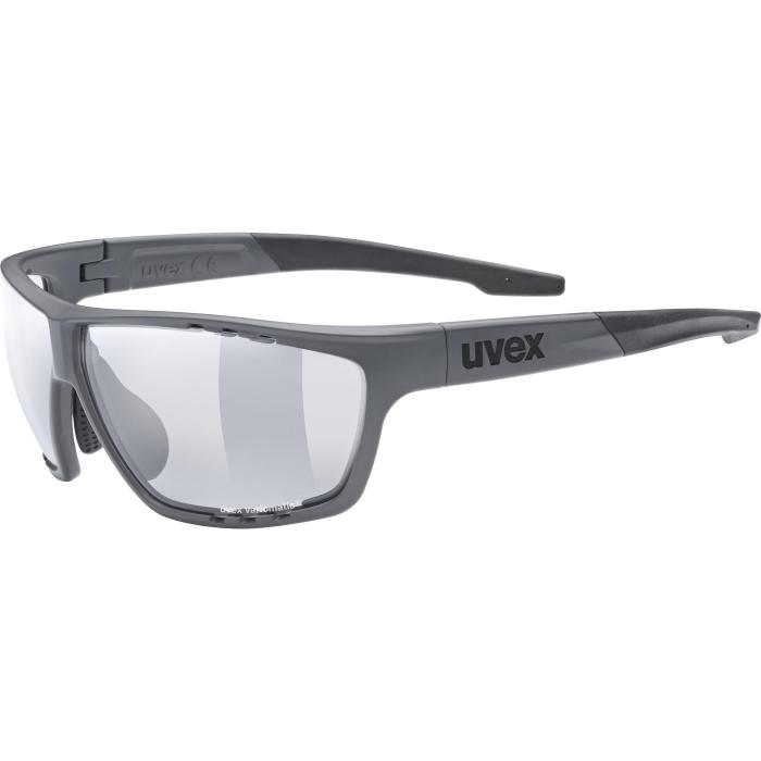 Uvex sportstyle 706 vario Brille - dark grey mat - smoke