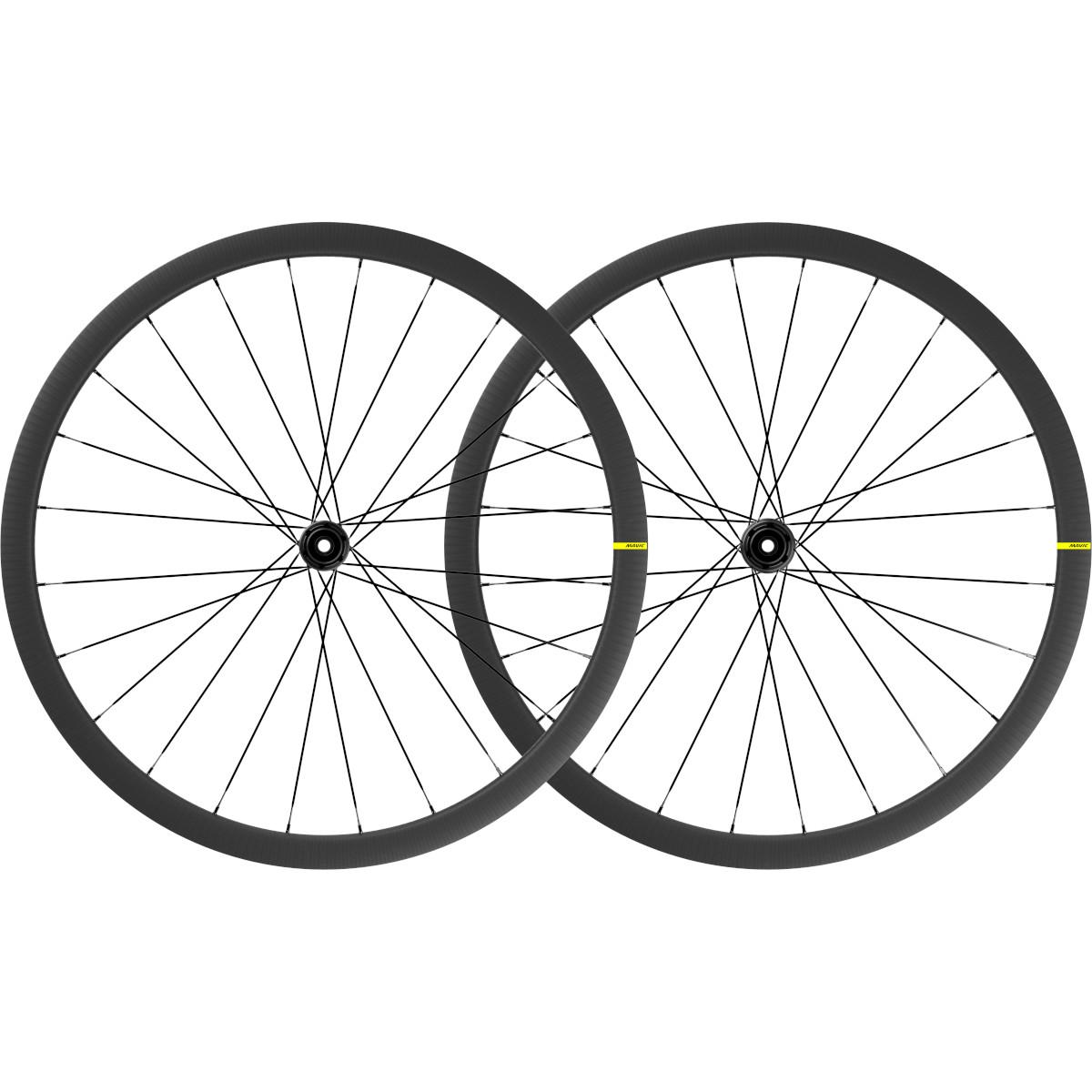 Mavic Cosmic SL 32 Disc Carbon UST Laufradsatz - Centerlock - VR: 12x100mm/QR | HR: 12x142mm/QR - Shimano HG