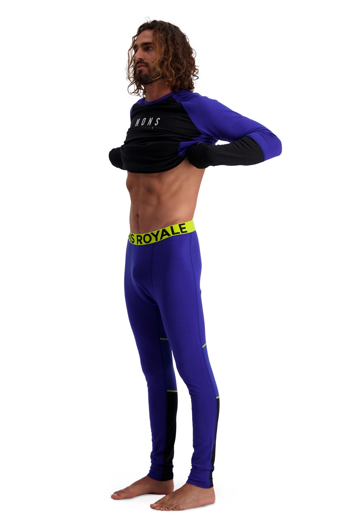 Image of Mons Royale Olympus 3.0 Leggings 100069 - ultra blue/black