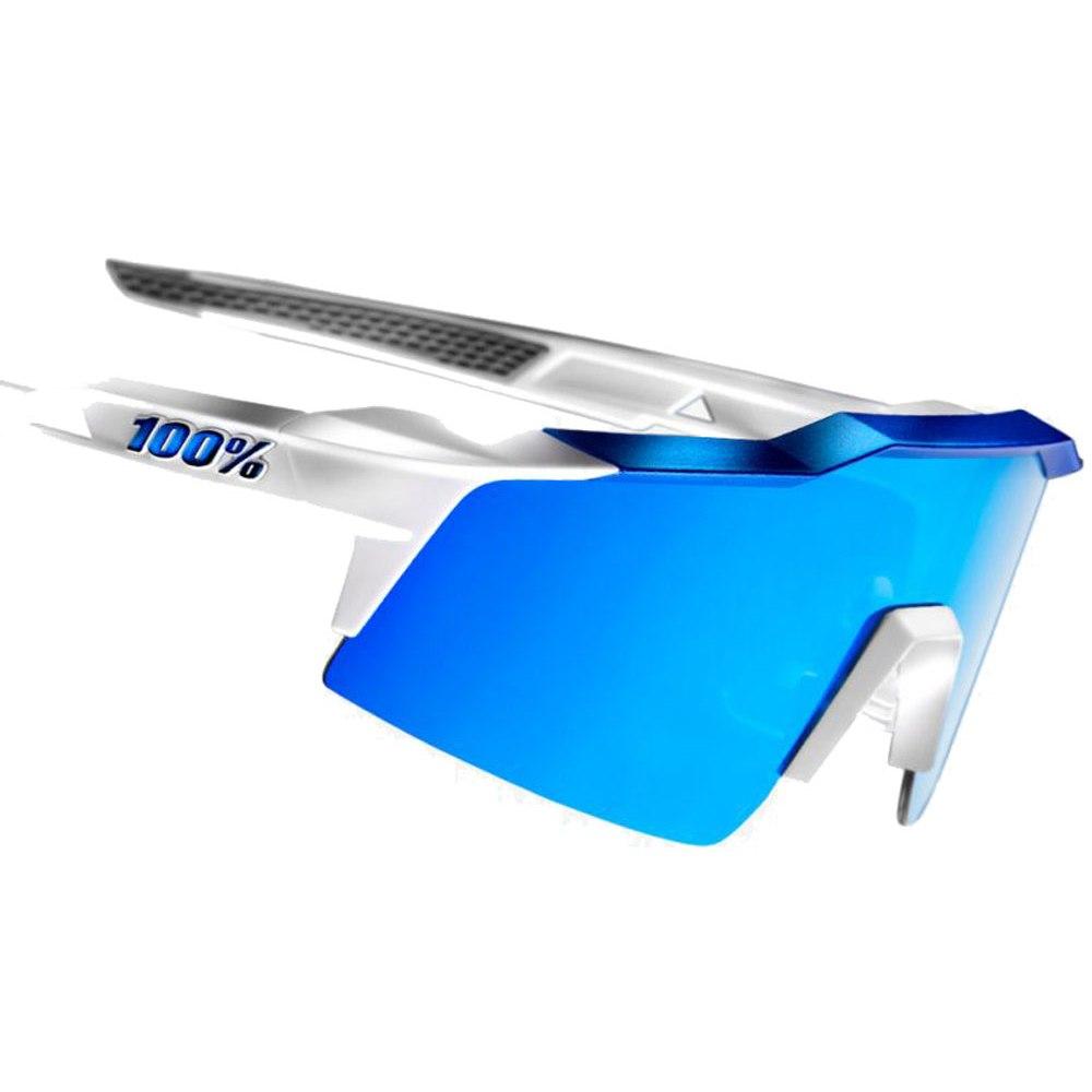 Imagen de 100% Speedcraft Small HiPer Mirror Lense Glasses - Matte White