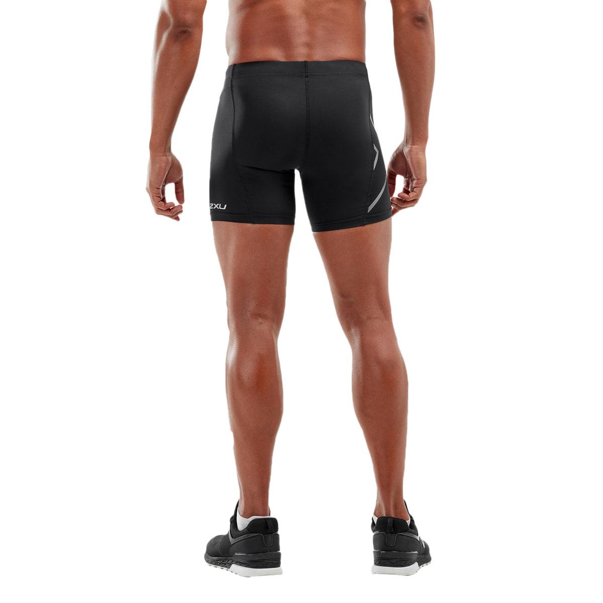 Image of 2XU Core Compression 1/2 Shorts - black/silver