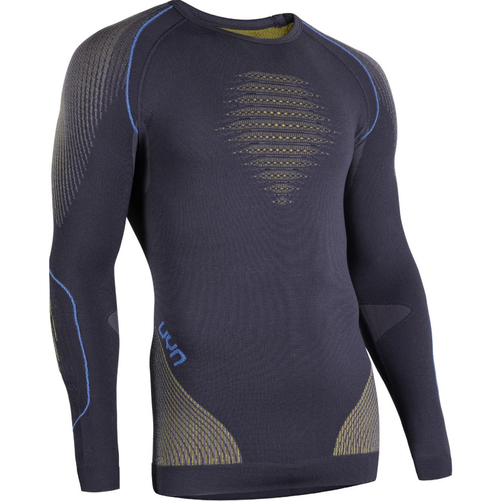 UYN Evolutyon Longsleeve Shirt - Charcoal/Gold/Atlantic