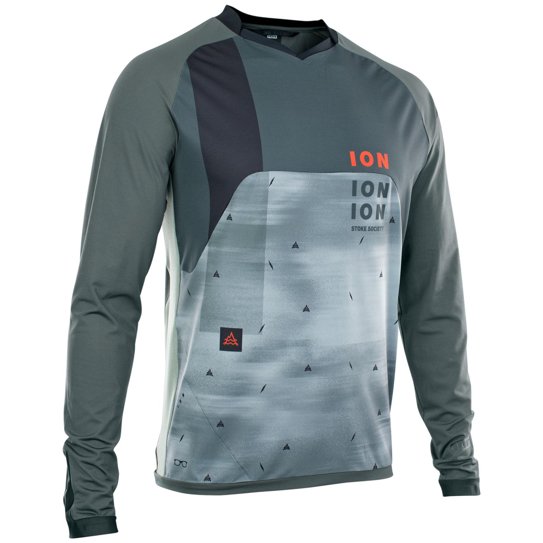 ION Bike Langarmshirt Traze Vent - thunder grey
