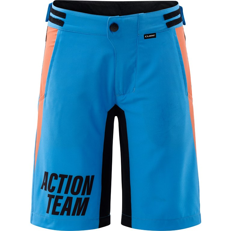 CUBE JUNIOR Baggy Shorts incl. Liner Shorts X Actionteam - blue´n´orange