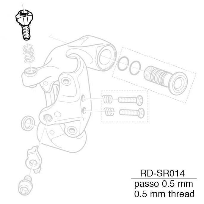 Campagnolo Cable Adjusting Screw 5-RD-DA004 for Athena / Centaur / Veloce RD