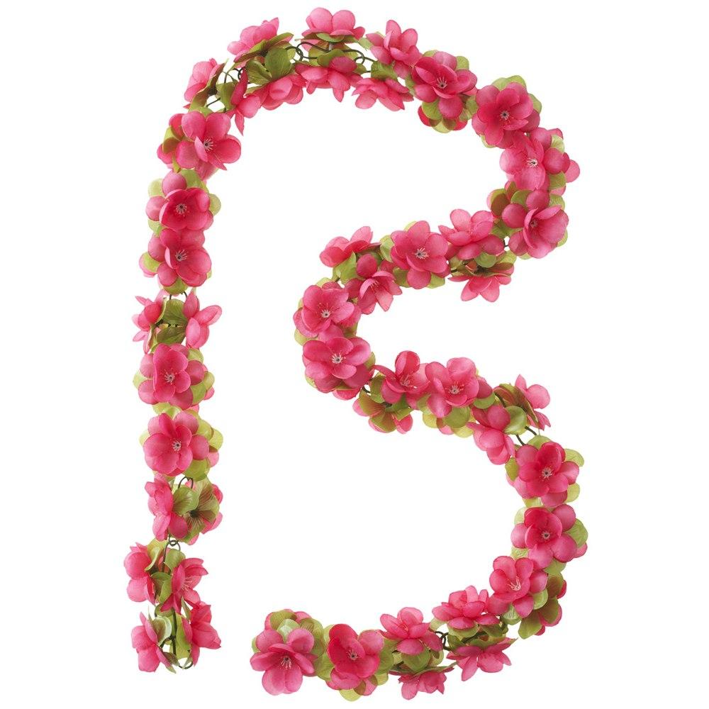 Image of Basil Flower Garland - fuchsia