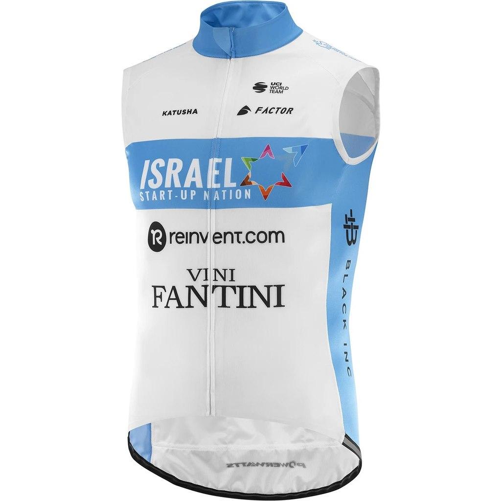 Katusha Team Israel Start-Up Nation Wind Vest - white/blue