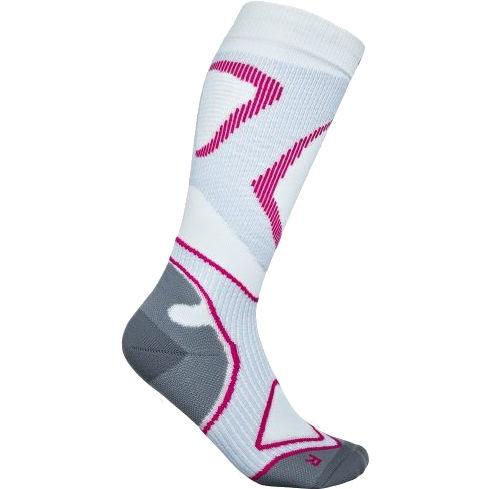 Bauerfeind Run Performance Women's Compression Socks - white-pink