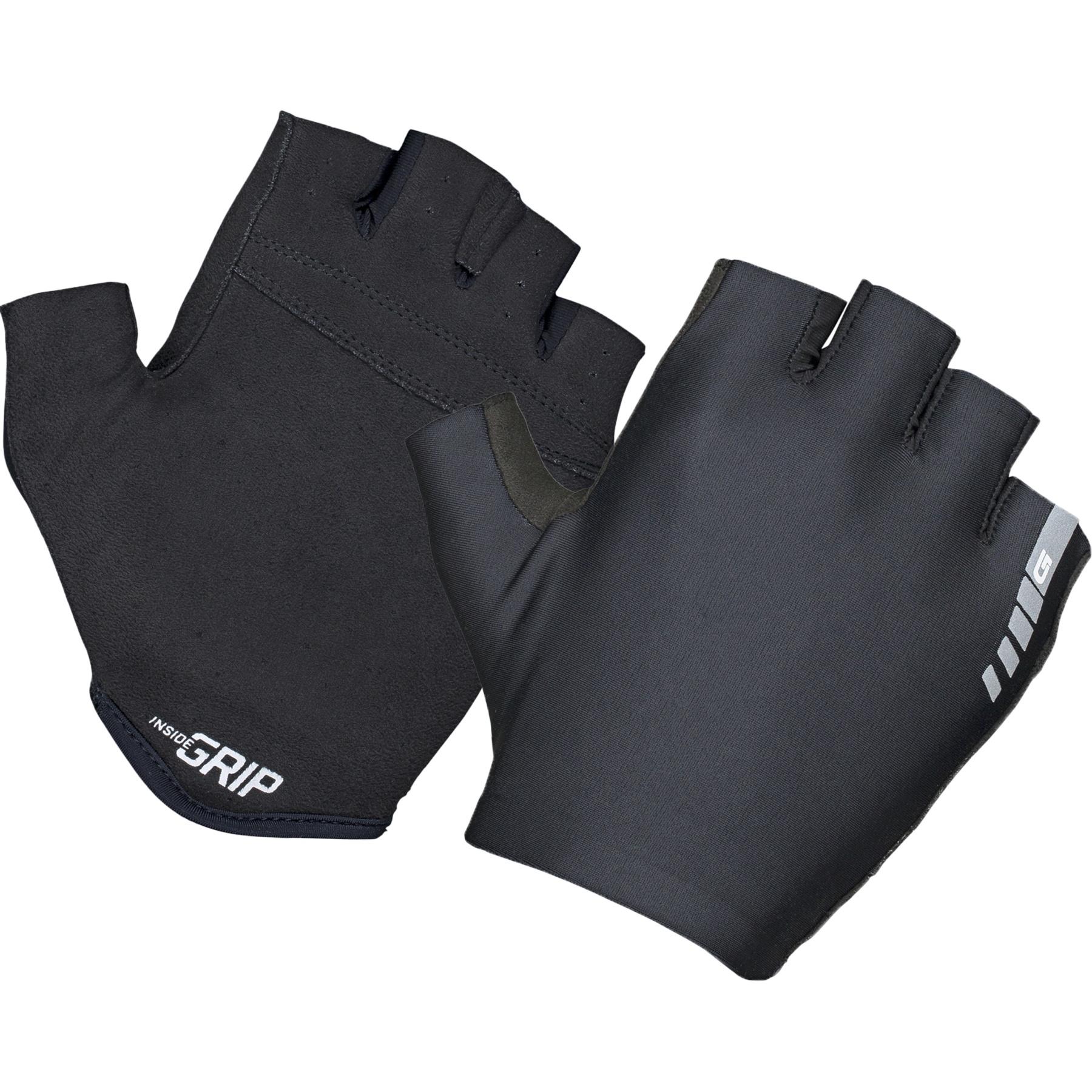 GripGrab Aerolite InsideGrip™ Short Finger Glove - Black