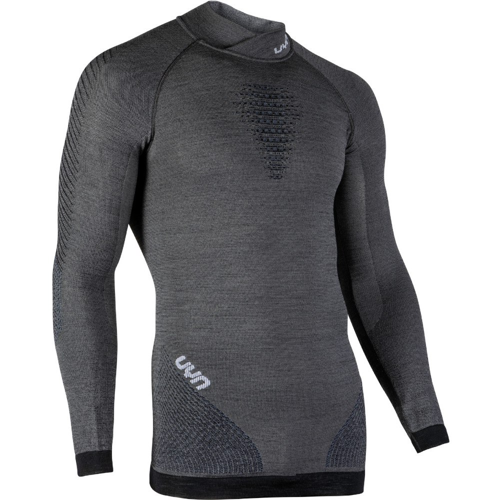 UYN Man Fusyon Shirt Longsleeve Turtleneck - Grey York/Avio/White
