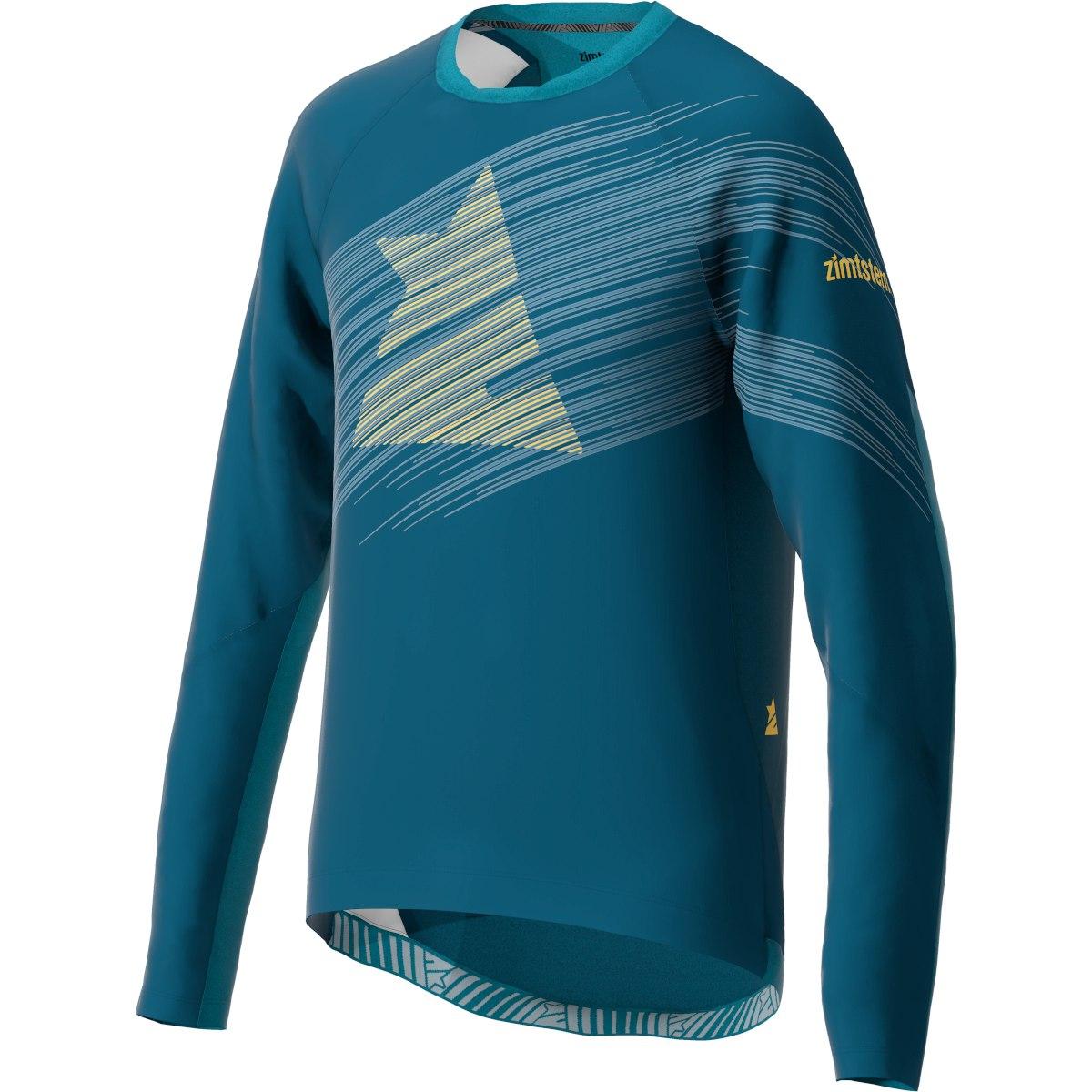 Image of Zimtstern ProTechZonez Windbreaker MTB Long Sleeve Shirt - french navy/blue steele