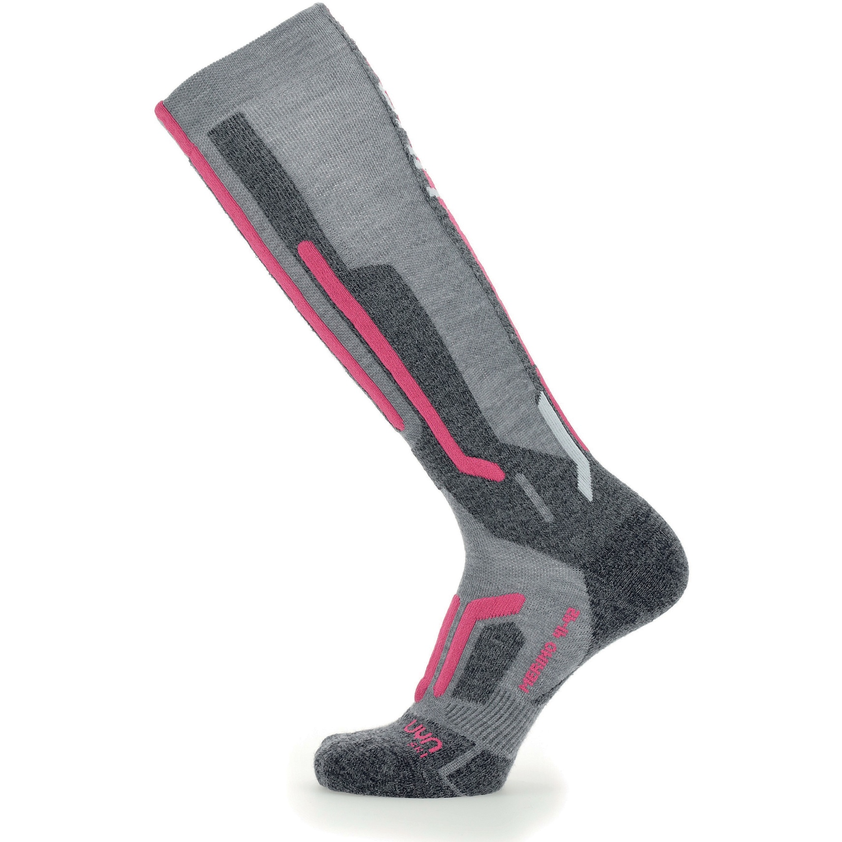 Bild von UYN Ski Merino Socken Damen - Light Grey/Pink
