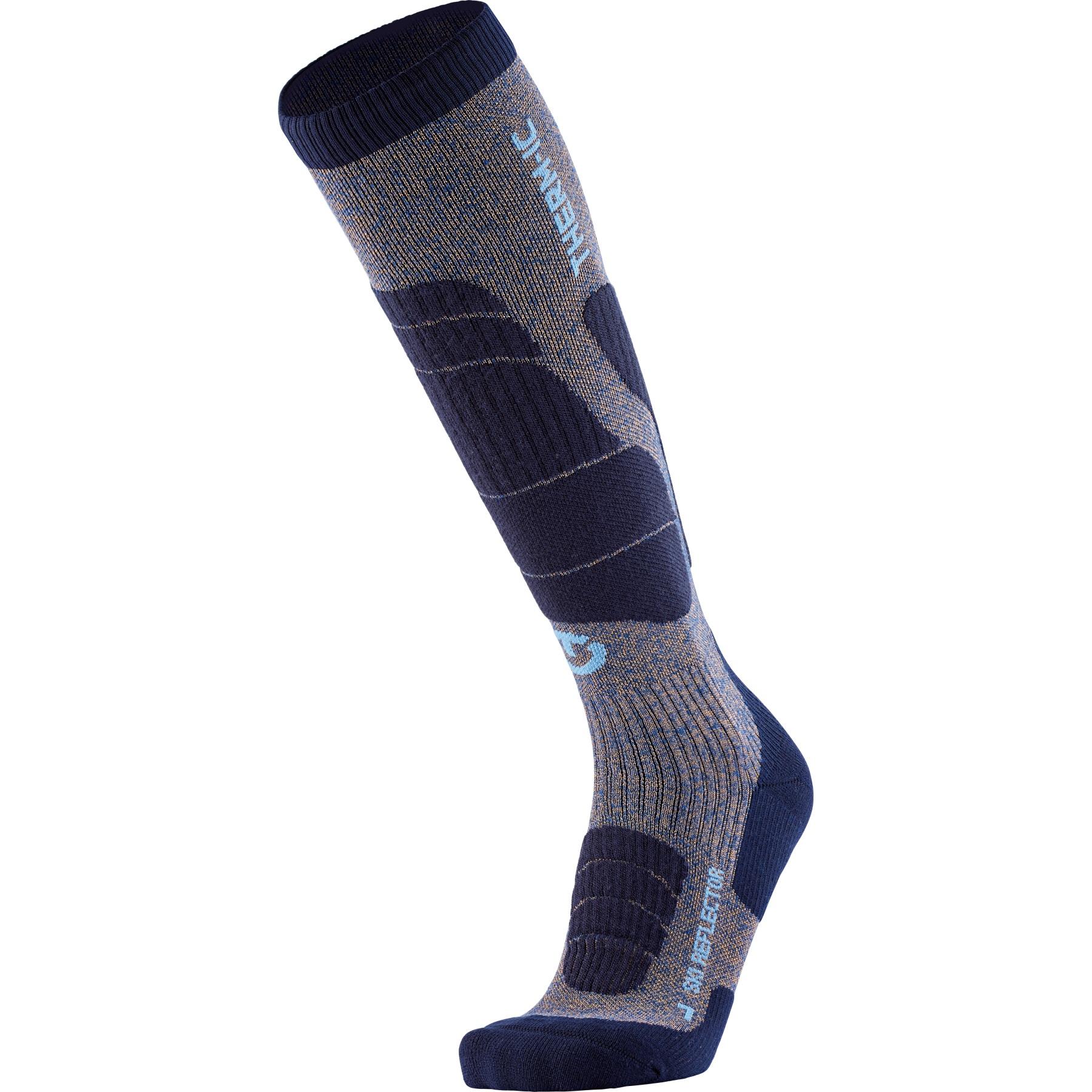 therm-ic Ski Merino Reflector Men Socken - Blau/Gold